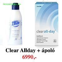 Clear All-Day Aspheric (6db) -  + 1 db 360ml DUA Elite ápolószer