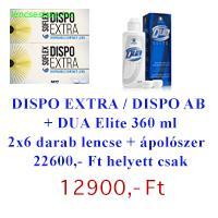 Dispo Extra (Dispo 55) / Dispo Aspheric (2 doboz 6db-os) + DUA Elite 360 ml - AKCIÓS