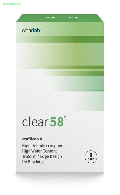 Clear 58UV (6db) - havi kontaktlencse - Aqualens Optika - Online  kontaktlencse webshop - webáruház 40784a0233