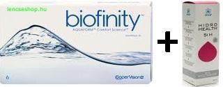 Biofinity (2x3db) + Hidro Health 360 ml ápolószer