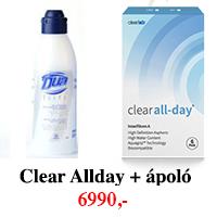 Clear All-Day Aspheric (6db) -  + 1 db 360ml DUA Elite ápolószer