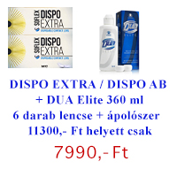 Dispo Extra (Dispo 55) / Dispo Aspheric (2x3db) + DUA Elite 360 ml - AKCIÓS