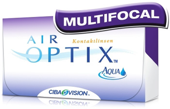 Air Optix Aqua Multifocal (3db) - szilikon-hidrogél kontaktlencse