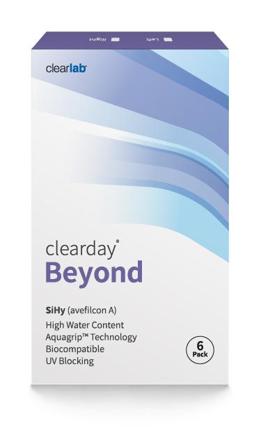Clearday BEYOND szilikon-hidrogél havi kontaktlencse