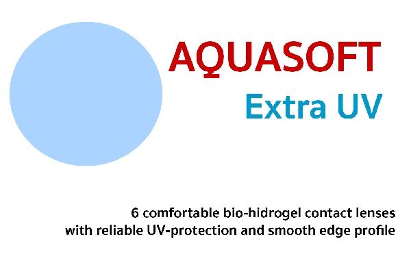 AQUASOFT EXTRA UV - 6db bio-hidrogél havi lencse