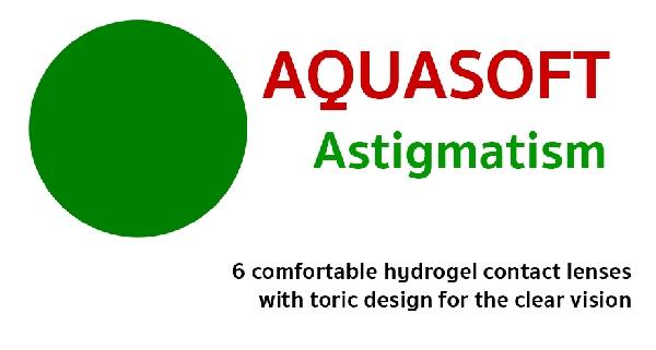 Aquasoft Astigmatism (3 db) - torikus kontaktlencse
